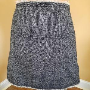 J.Crew Lined Wool Tweed Mini Skirt